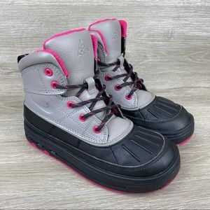 Nike ACG Woodside 2 High Gray Black Pink Boots 1Y